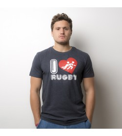 T-Shirt I Love Rugby Heart