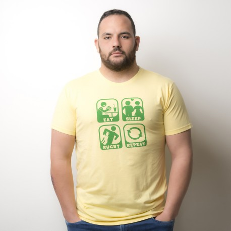 T-Shirt Eat Sleep Rugby Fronte